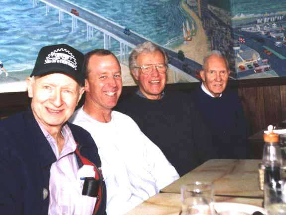 Jim Forrest, Steve Salmon, Rich and Howard Salmon at breakfast in Virginia Beach, 2005